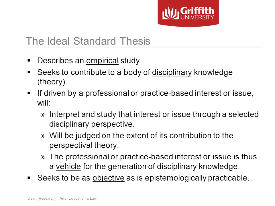 The Ideal Standard Thesis