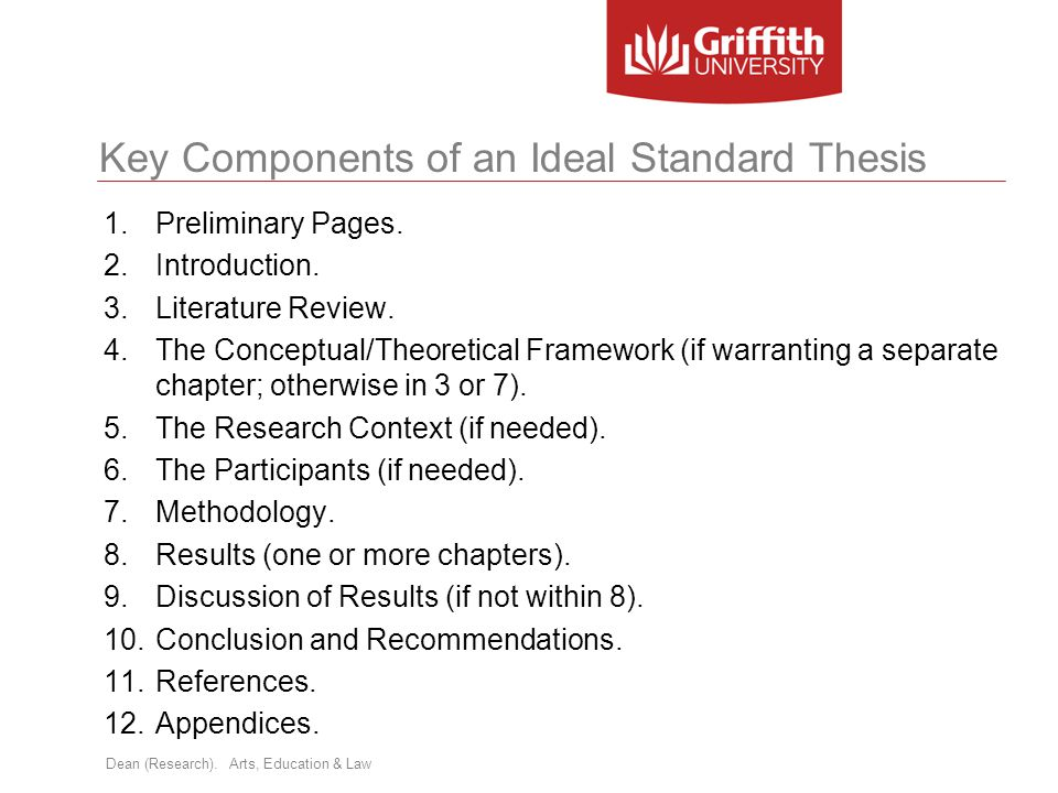 Key Components of an Ideal Standard Thesis