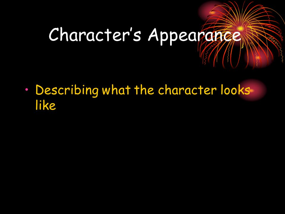 Character's Appearance