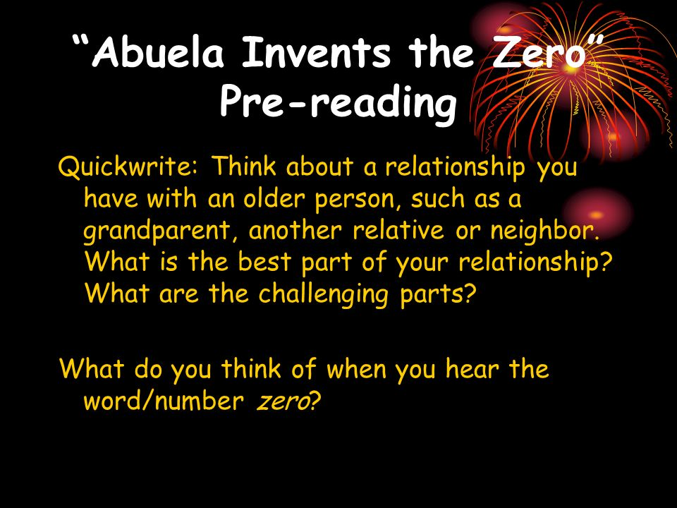 Abuela Invents the Zero Pre-reading