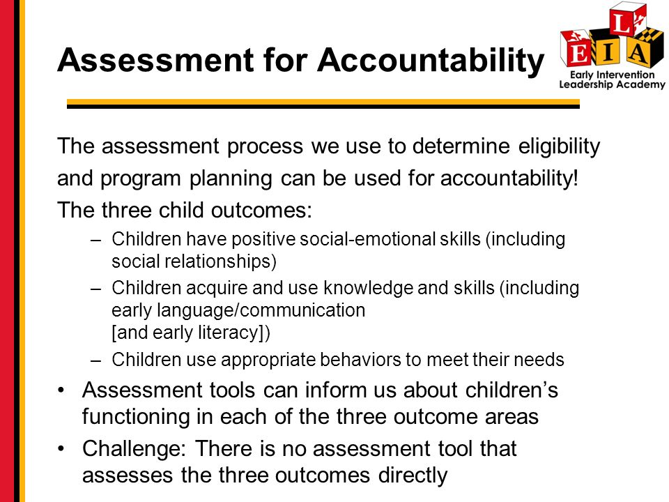 Assessment for Accountability