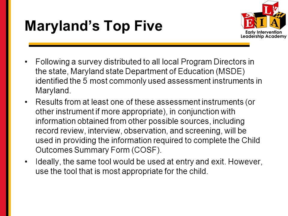 Maryland's Top Five