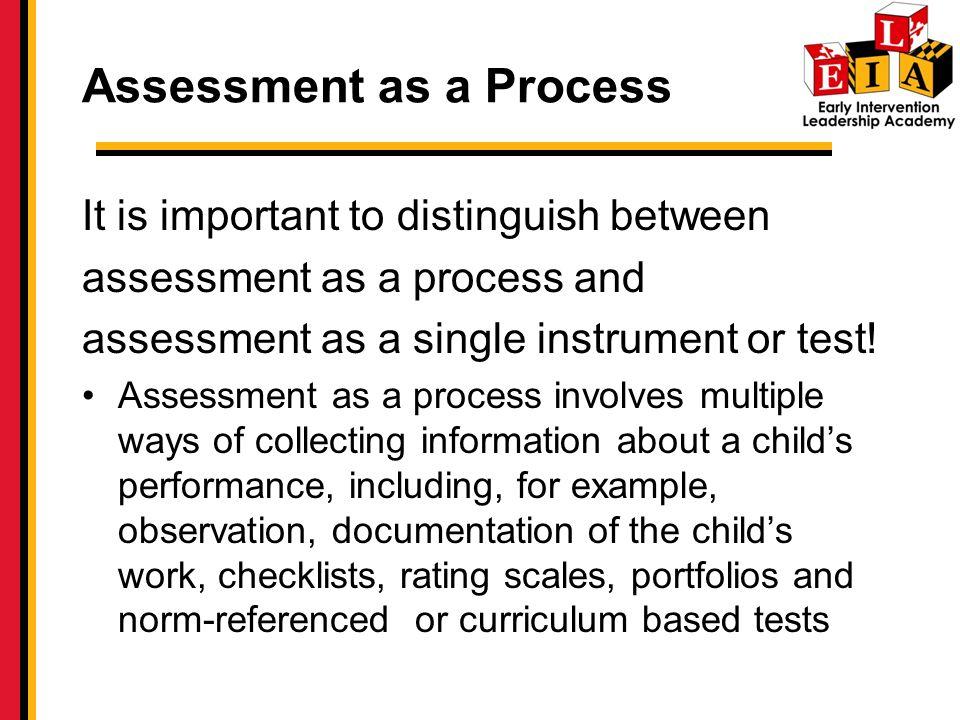 Assessment as a Process