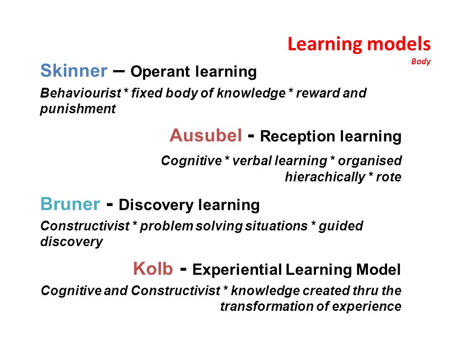Kolb - Experiential Learning Model