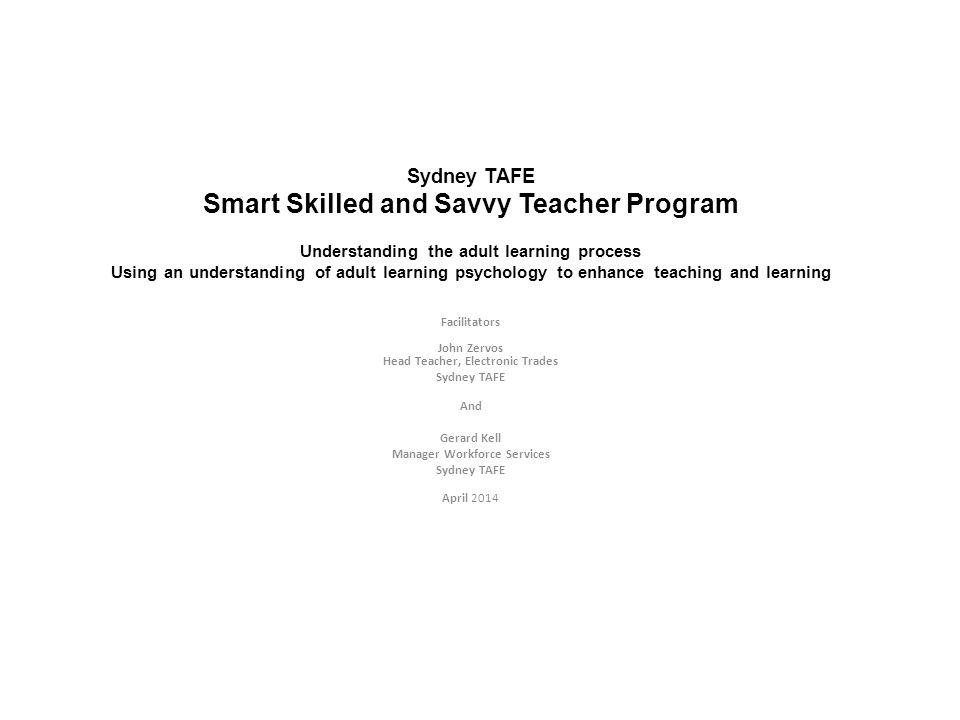 Smart Skilled and Savvy Teacher Program