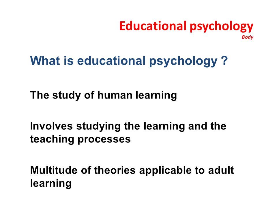 Educational psychology Body