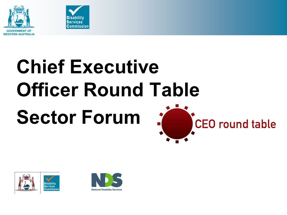 Chief Executive Officer Round Table Sector Forum