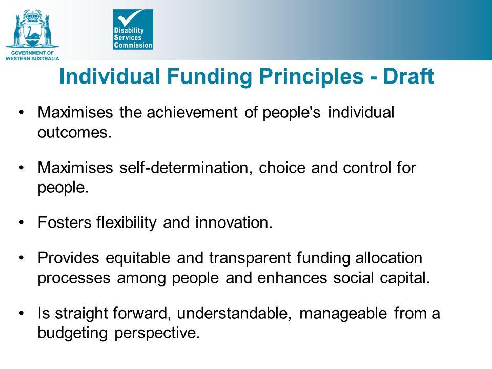 Individual Funding Principles - Draft