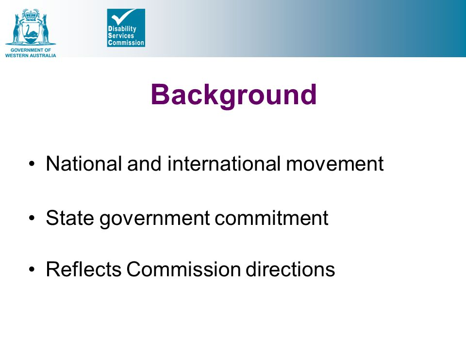 Background National and international movement