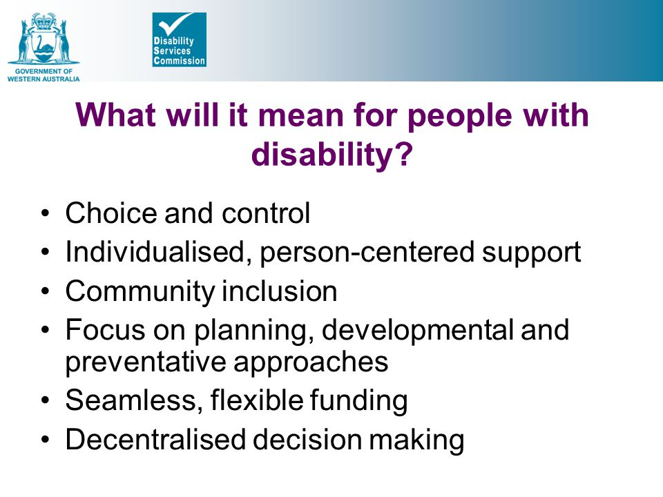 What will it mean for people with disability