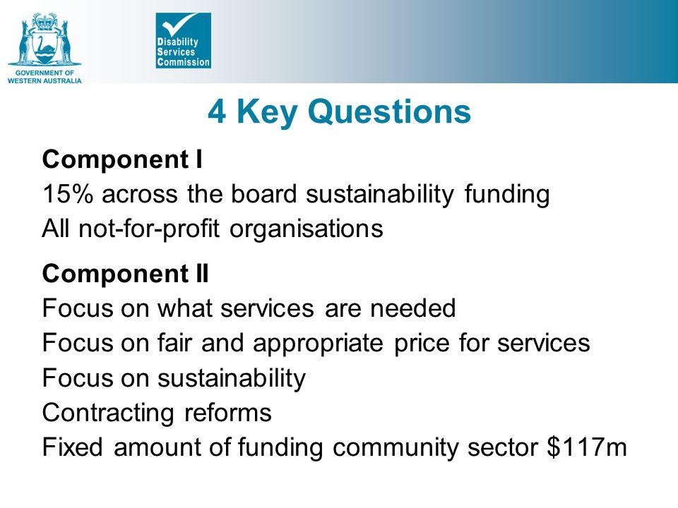 4 Key Questions Component I