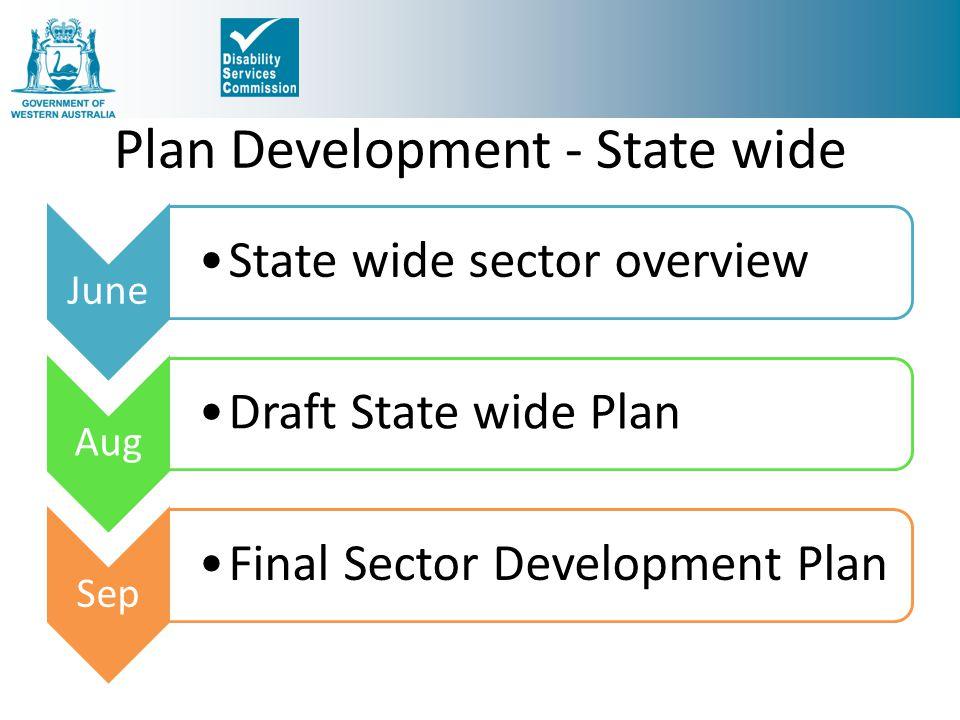 Plan Development - State wide