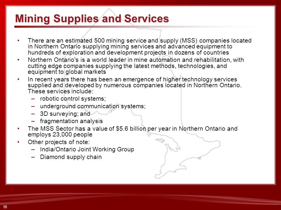 Mining Supplies and Services
