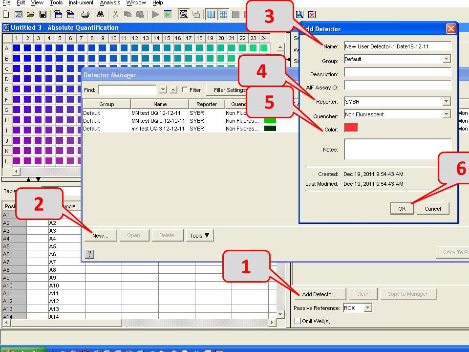3 4 5 6 2 7 8 1 Add detector for each gene - 1 New - 2