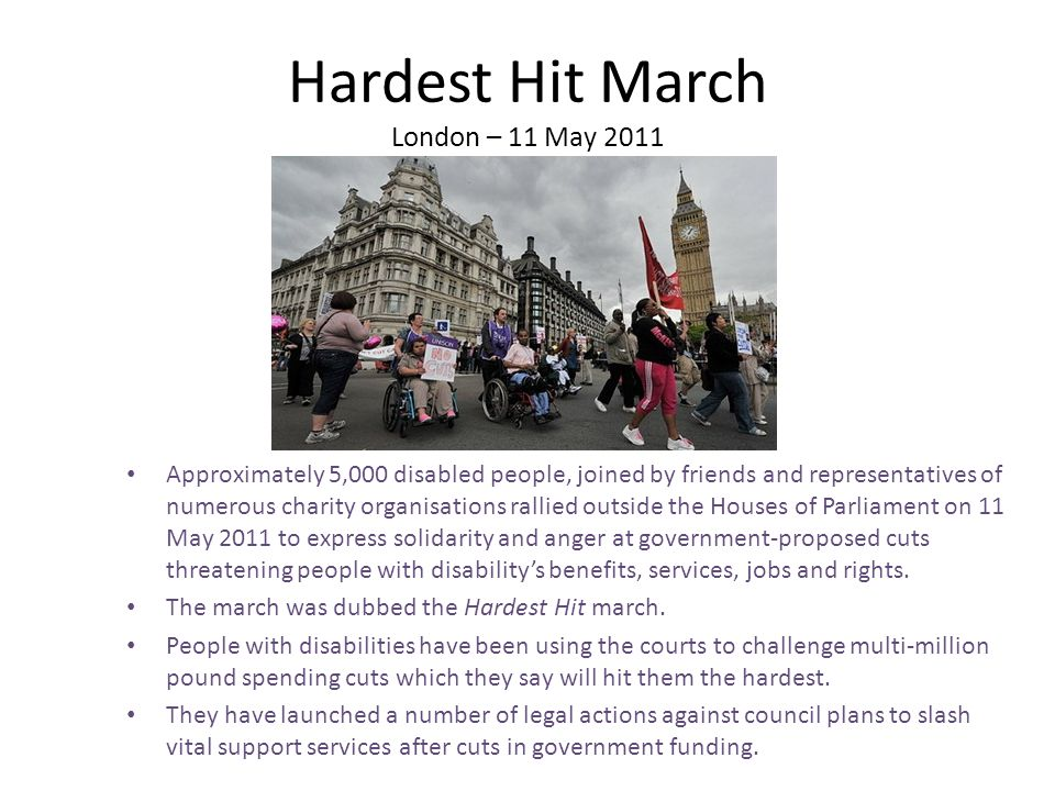 Hardest Hit March London – 11 May 2011