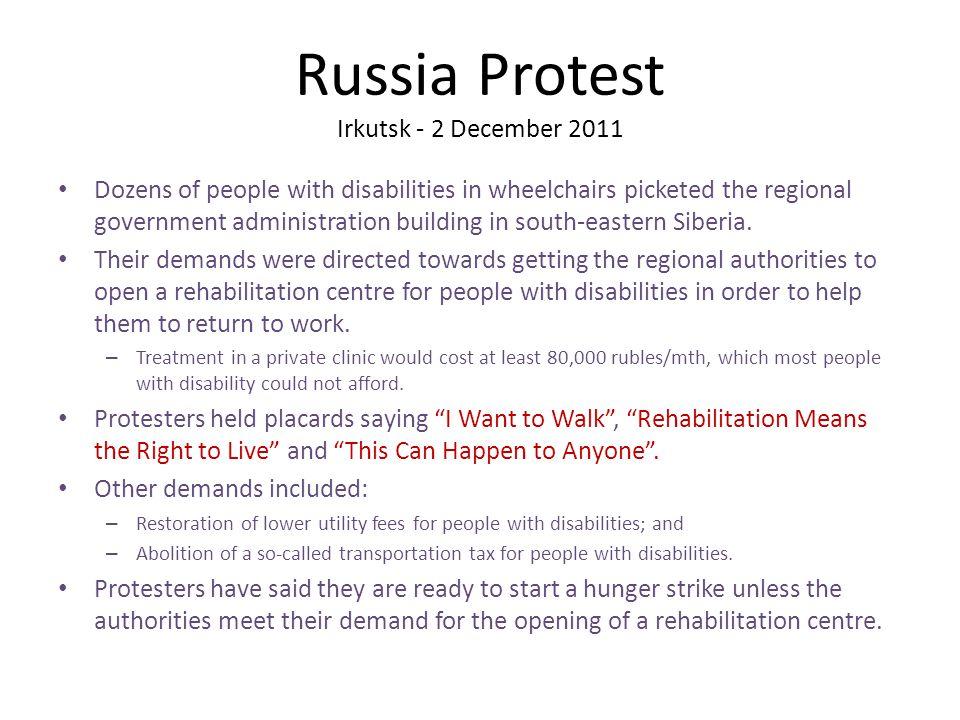 Russia Protest Irkutsk - 2 December 2011