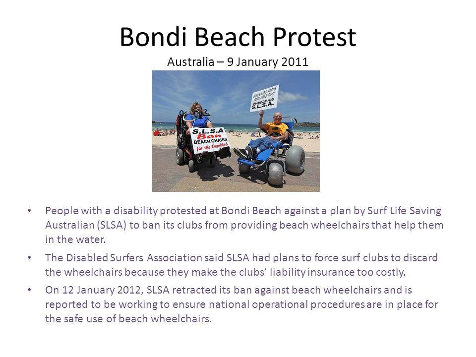 Bondi Beach Protest Australia – 9 January 2011