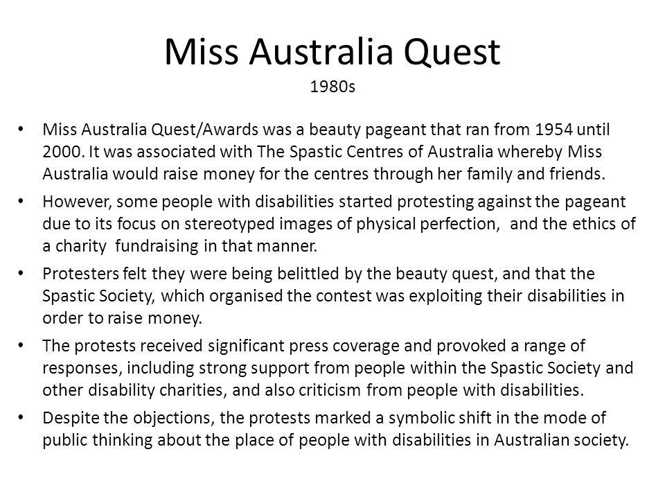 Miss Australia Quest 1980s