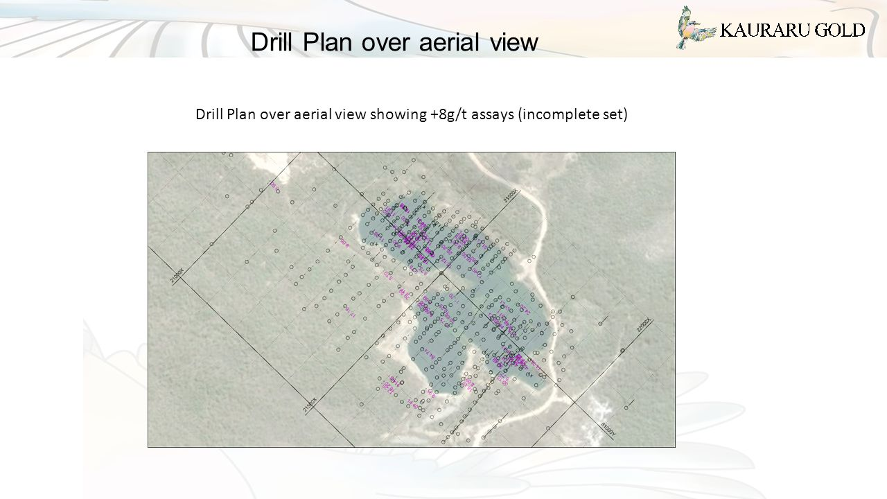 Drill Plan over aerial view