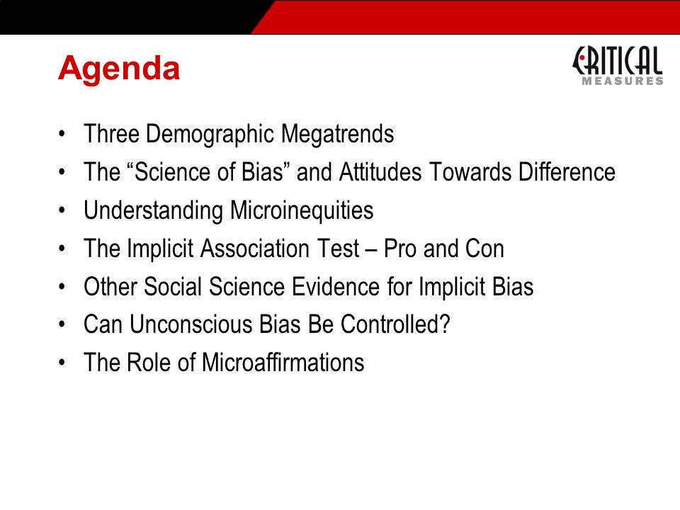 Agenda Three Demographic Megatrends