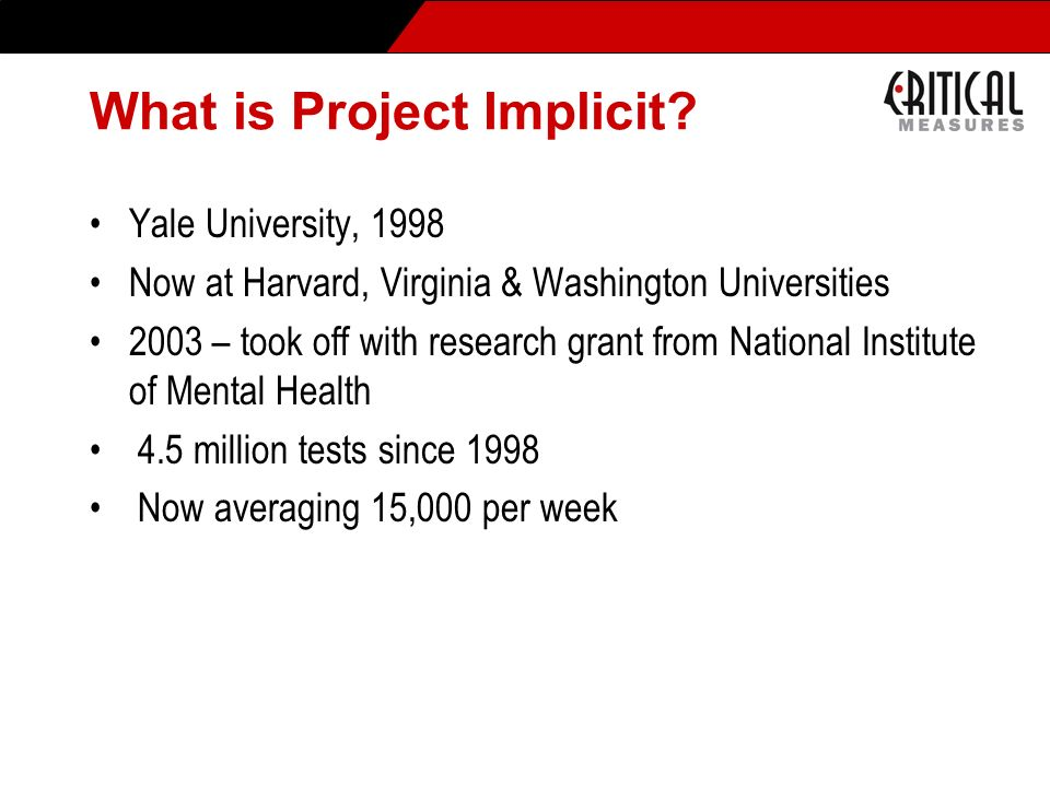 What is Project Implicit