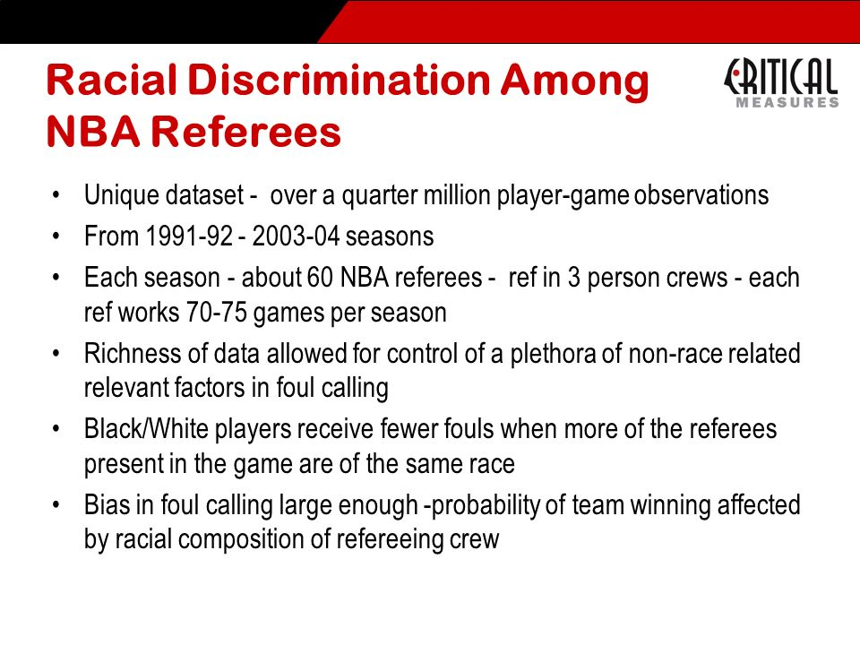 Racial Discrimination Among NBA Referees