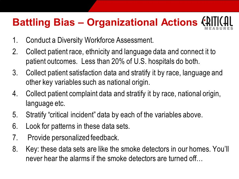 Battling Bias – Organizational Actions