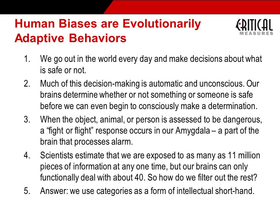 Human Biases are Evolutionarily Adaptive Behaviors