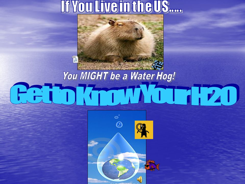 Get to Know Your H2O If You Live in the US.....