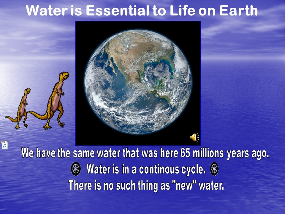 Water is Essential to Life on Earth