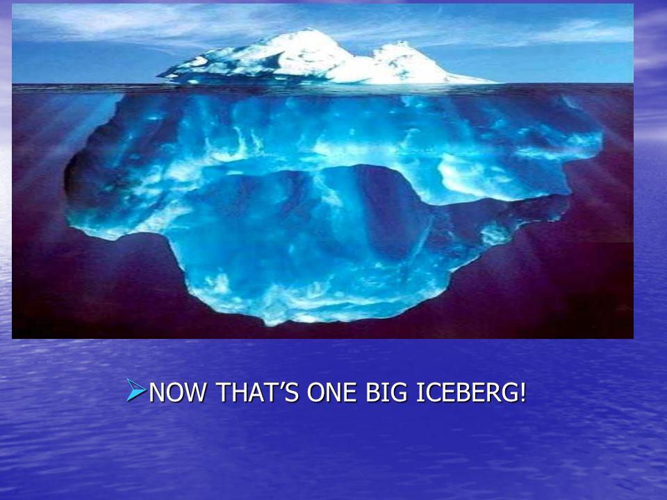 NOW THAT'S ONE BIG ICEBERG!