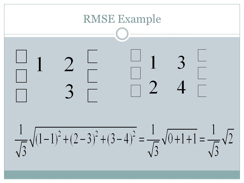 RMSE Example