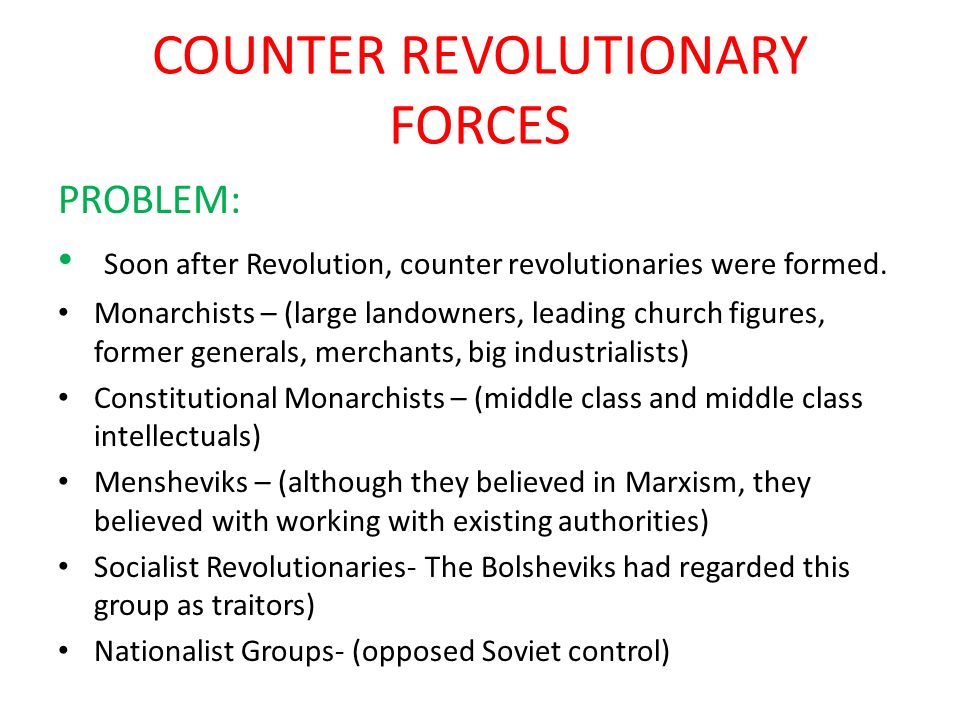 COUNTER REVOLUTIONARY FORCES