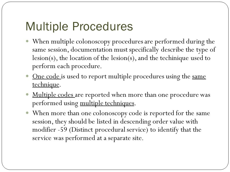 Multiple Procedures