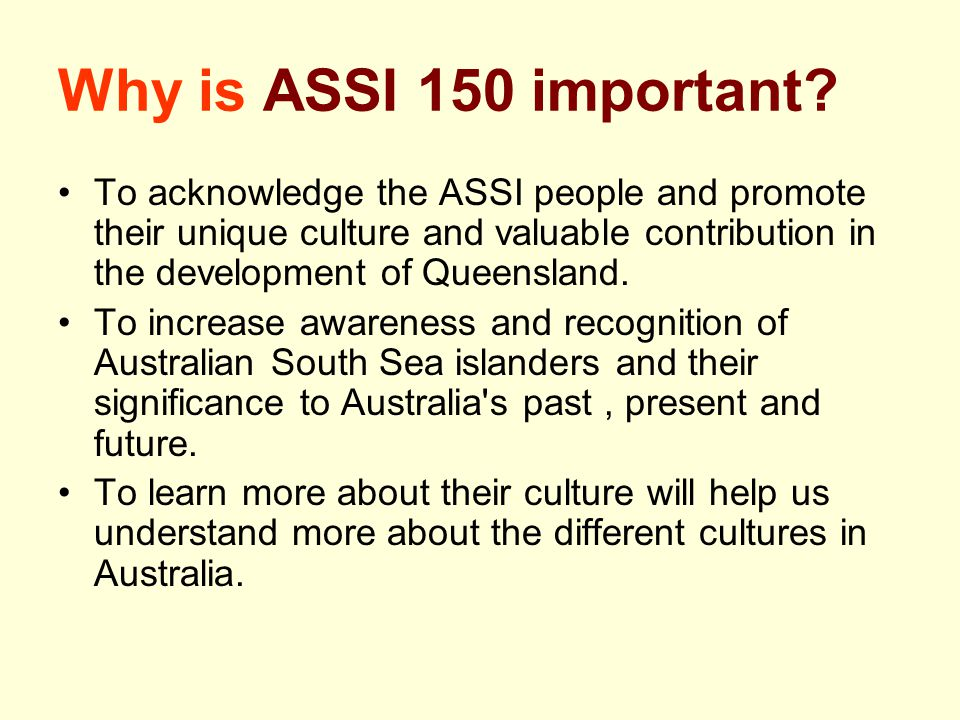 Why is ASSI 150 important