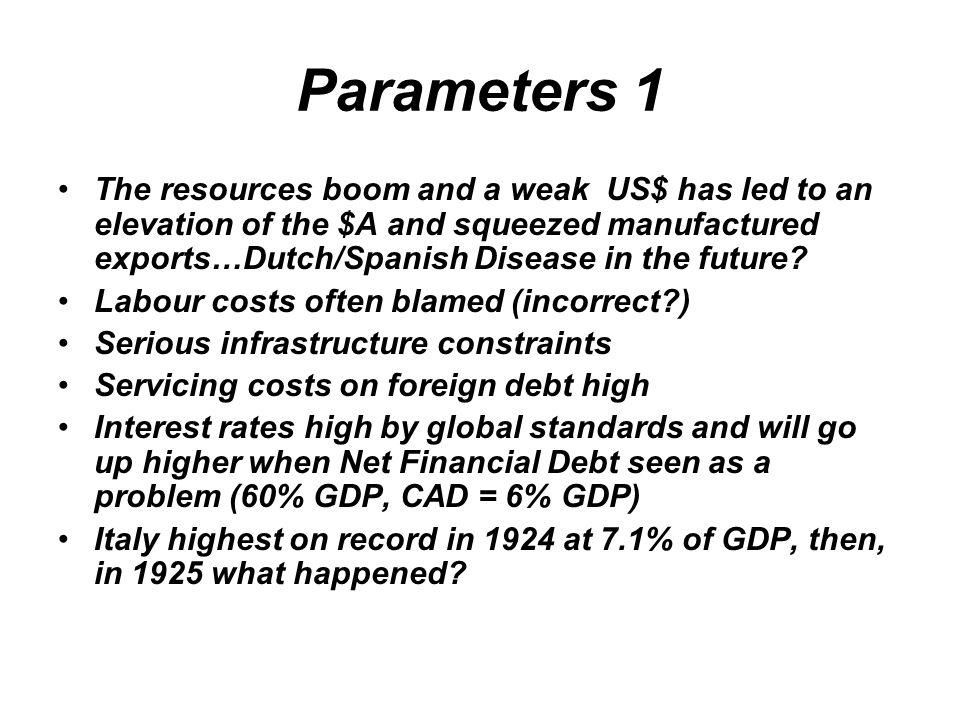Parameters 1