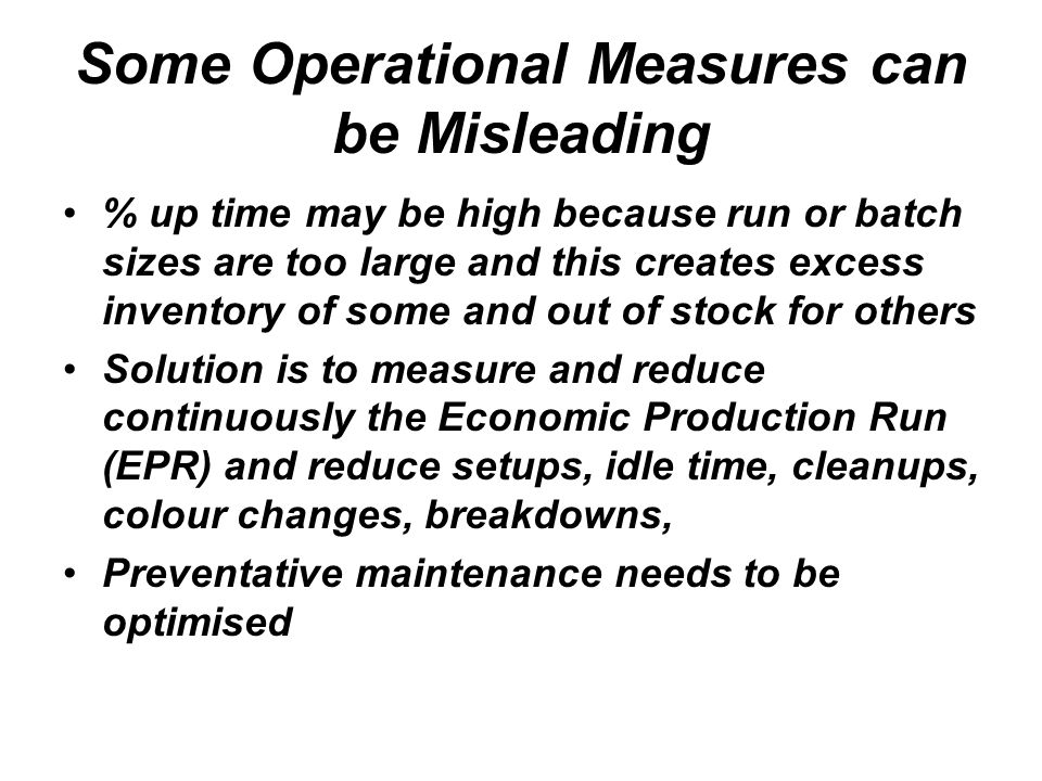 Some Operational Measures can be Misleading