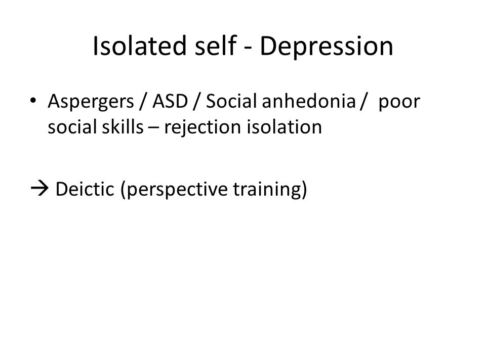 Isolated self - Depression