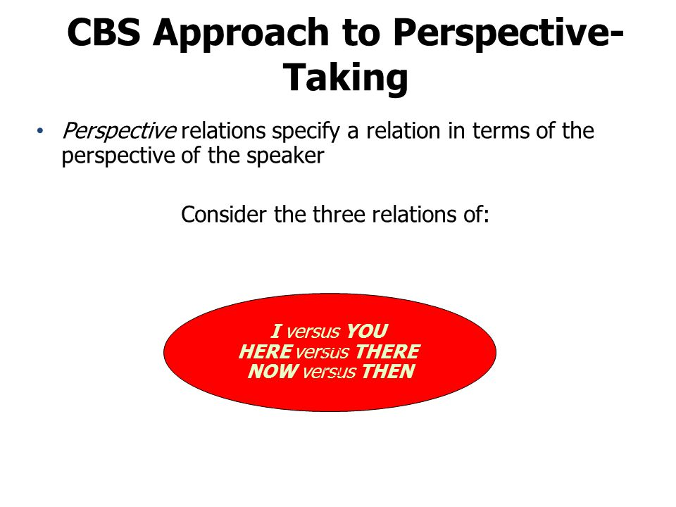 CBS Approach to Perspective-Taking