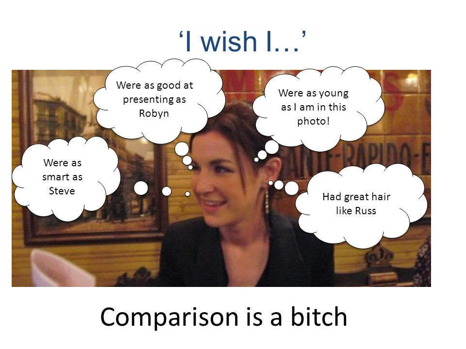 'I wish I…' Comparison is a bitch Were as good at presenting as Robyn