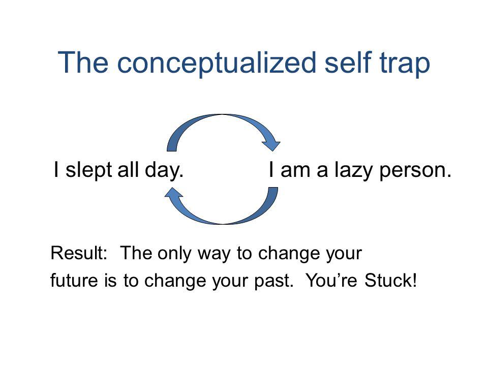 The conceptualized self trap