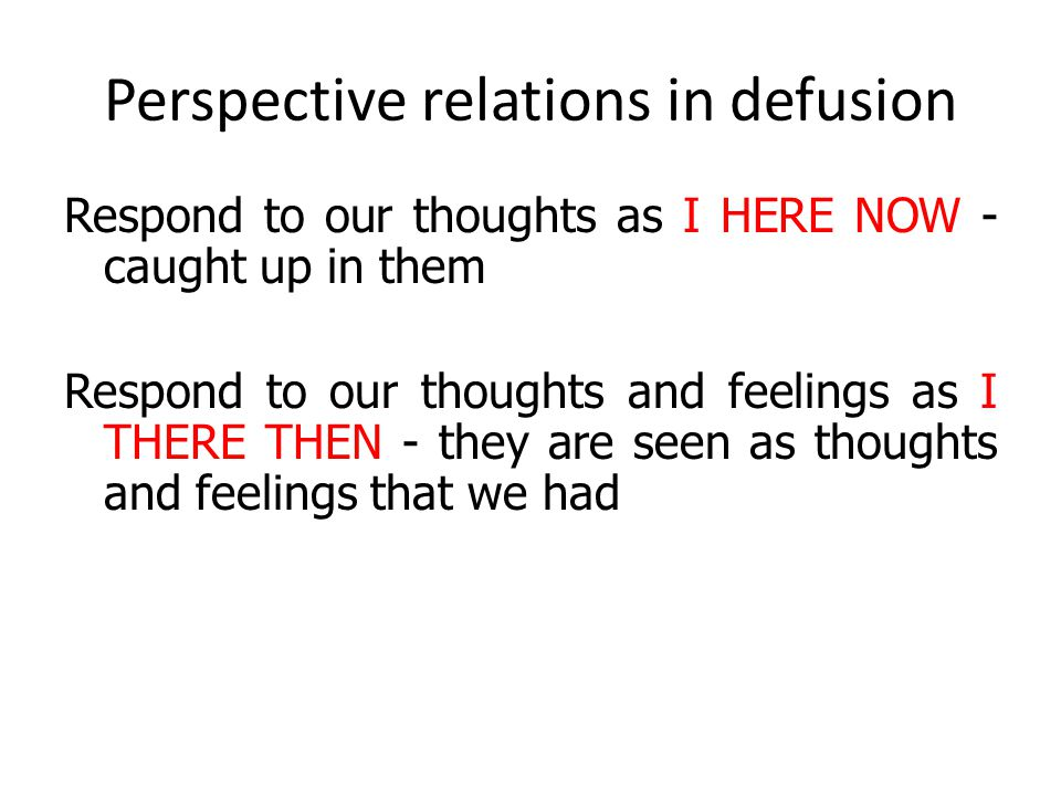 Perspective relations in defusion
