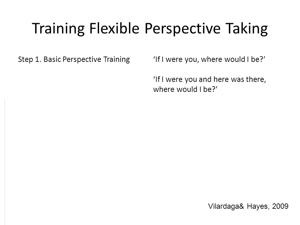 Training Flexible Perspective Taking