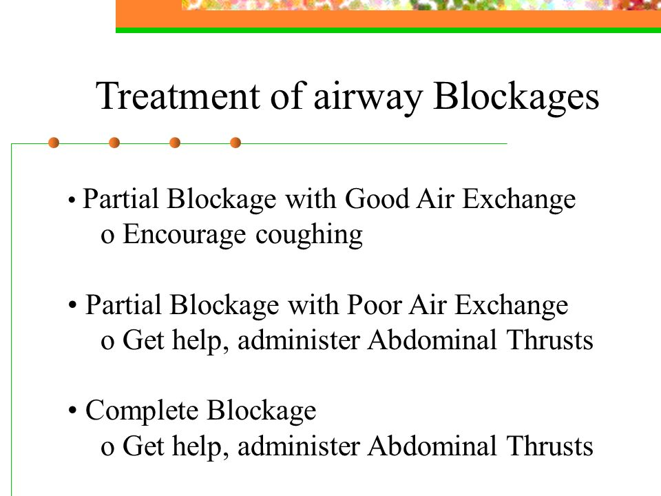 Treatment of airway Blockages