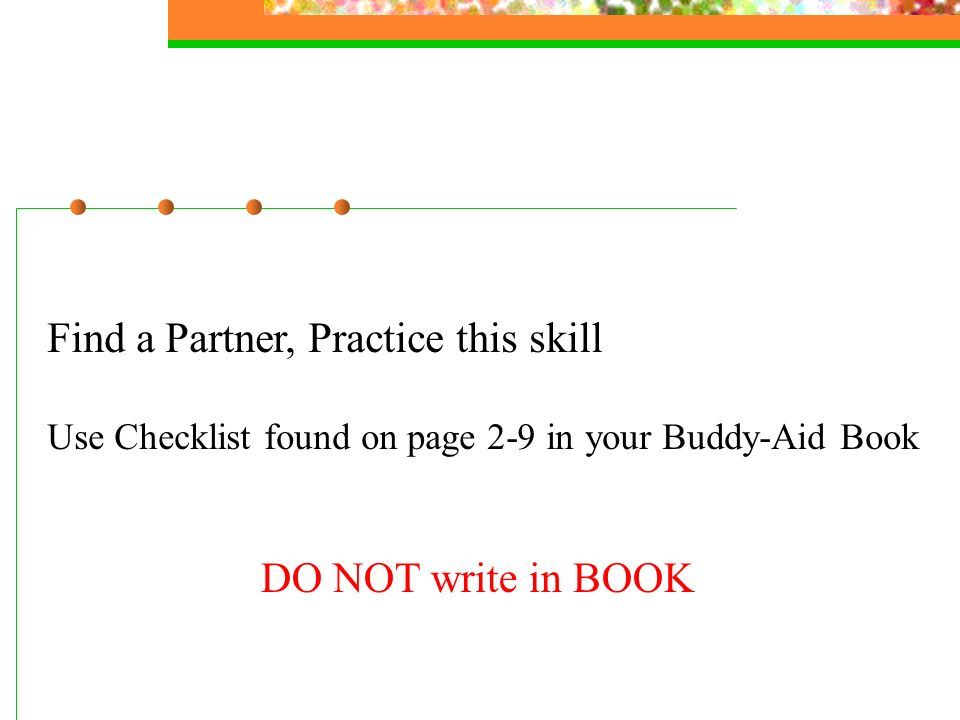 Find a Partner, Practice this skill