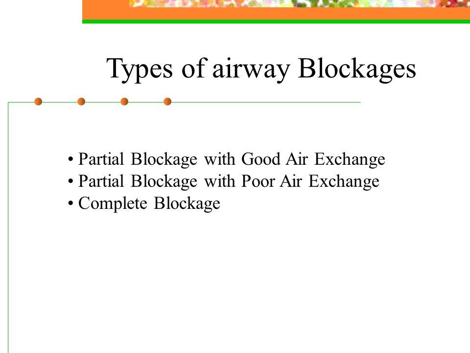 Types of airway Blockages