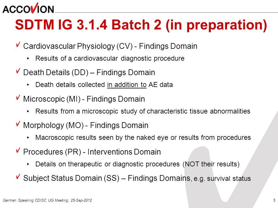 SDTM IG 3.1.4 Batch 2 (in preparation)