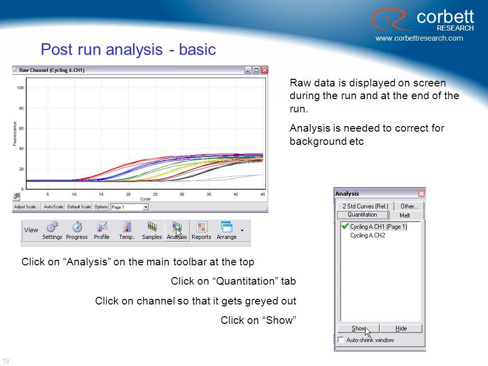 Post run analysis - basic