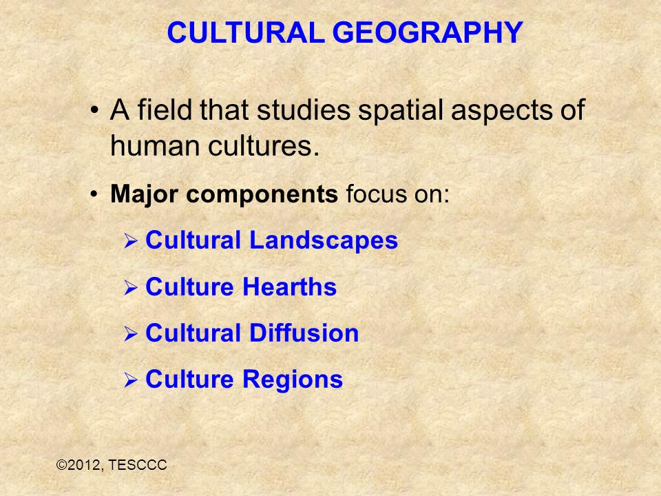 A field that studies spatial aspects of human cultures.