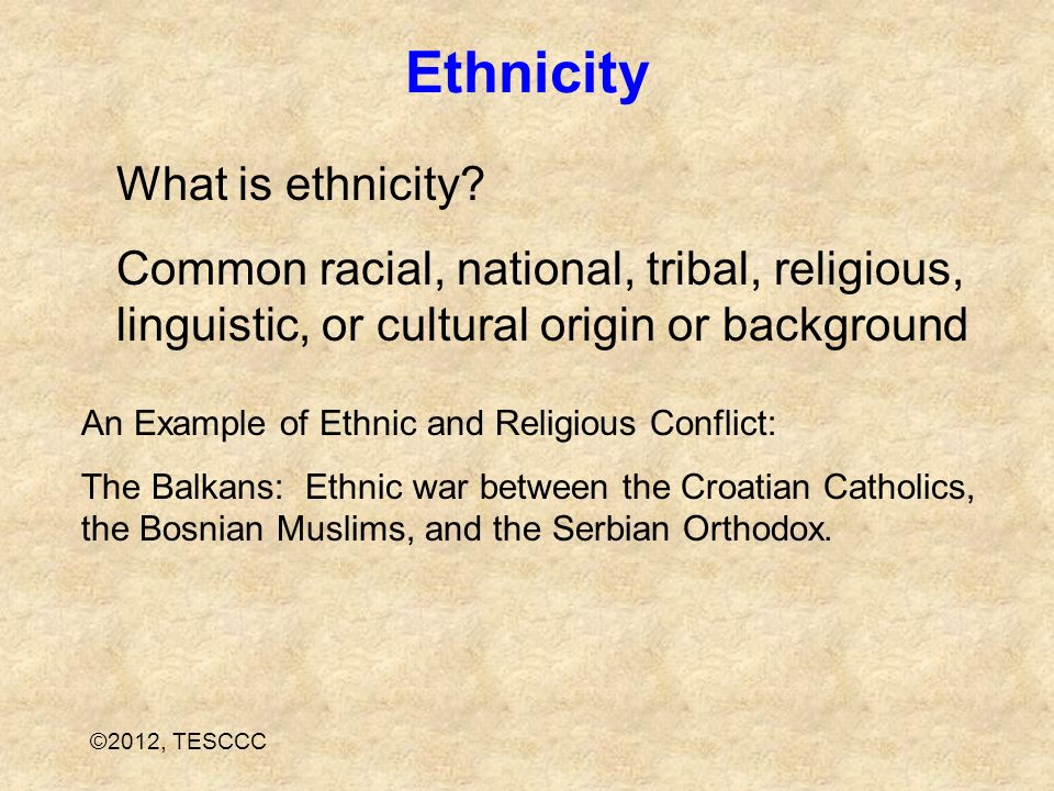 Ethnicity What is ethnicity